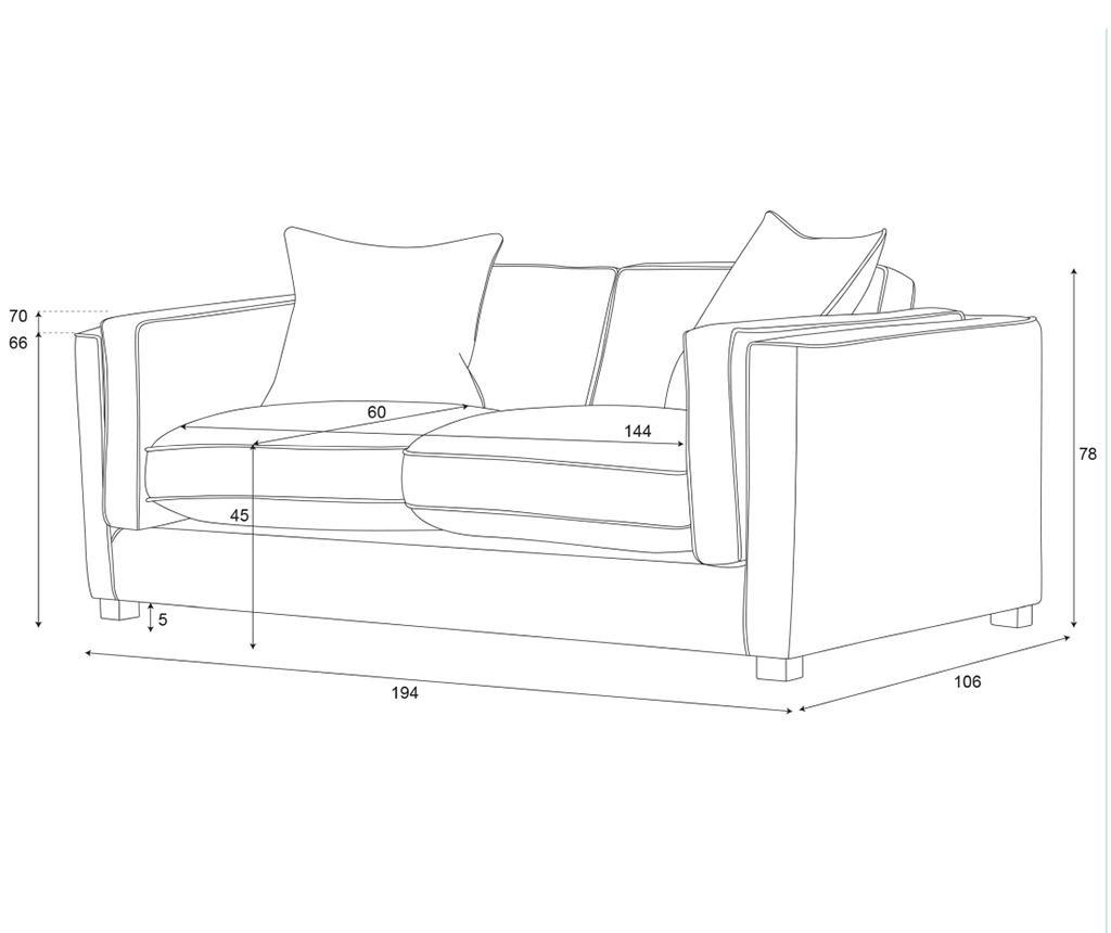 Canapea 2 locuri Organdi Lilac