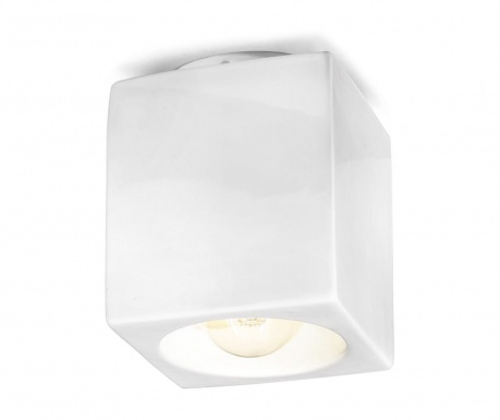 Plafoniera Vintage Cubo Smooth White