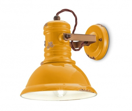 Industrial Yellow Fali lámpa