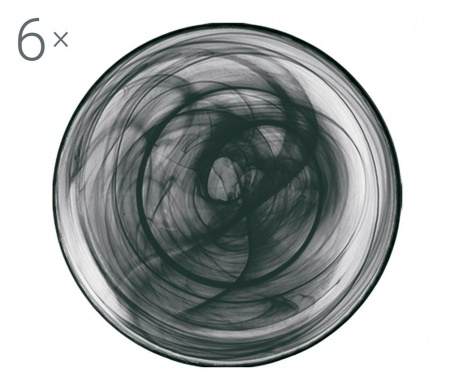 Set 6 farfurii adanci Alabastro Black