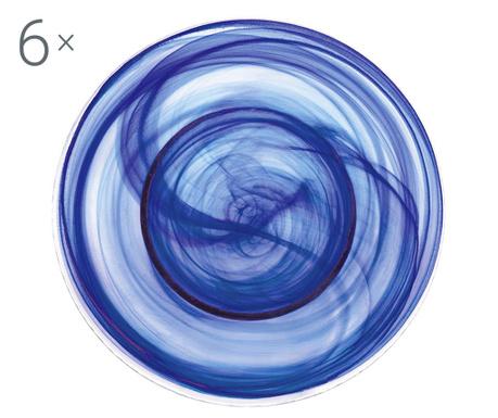 Alabastro Blue 6 db Tésztás tányér