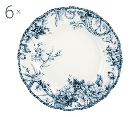 Set 6 velikih krožnikov Adelaide Blue