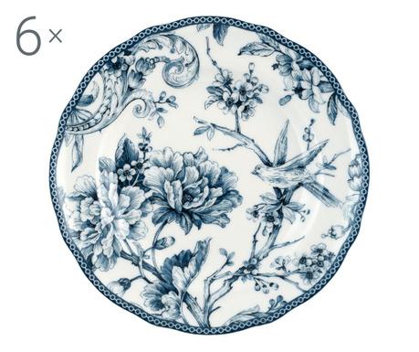 Set 6 desertnih krožnikov Adelaide Blue
