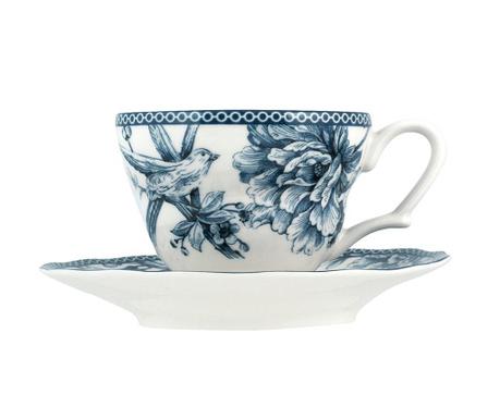 Set 6 skodelic in 6 krožničkov Adelaide Blue