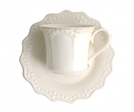 Set 6 šalica i 6 tanjurića Crown Ivory Tea