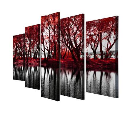 Sada 5 obrazů Tree