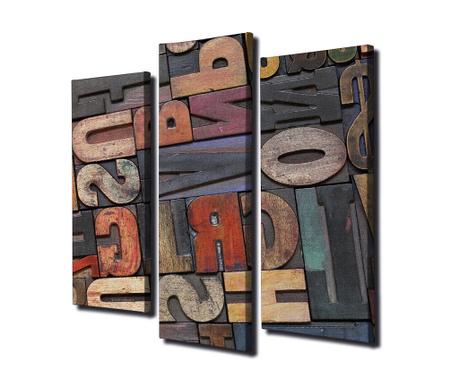 Sada 3 obrazů Letters