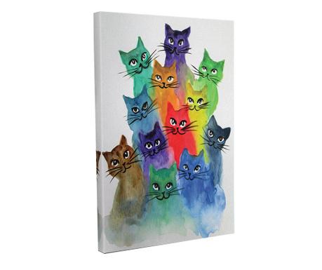 Cats Kép 30x40 cm