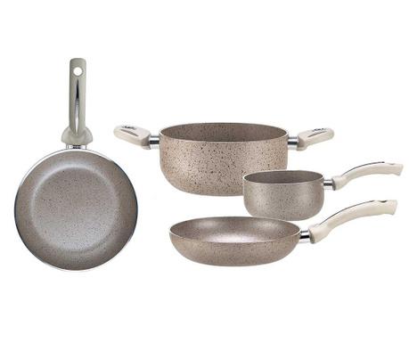 Czteroczęściowy zestaw naczyń do gotowania Uniqum Perla