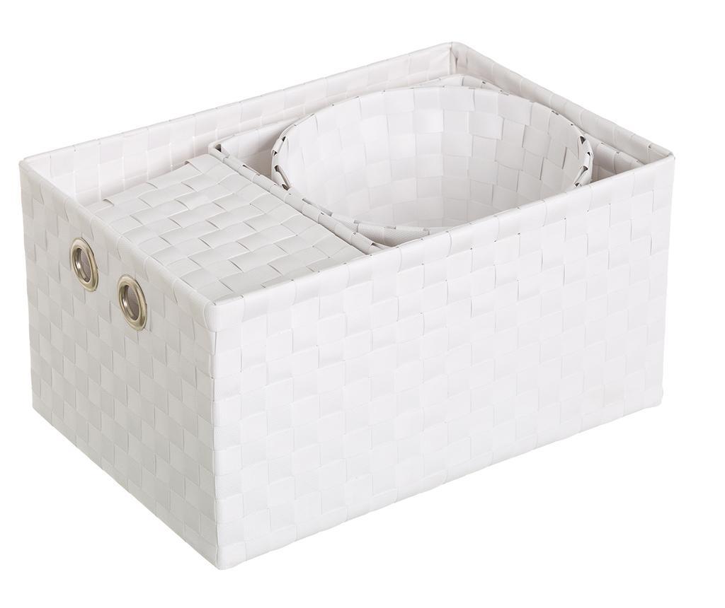 Set 4 košare Desire White