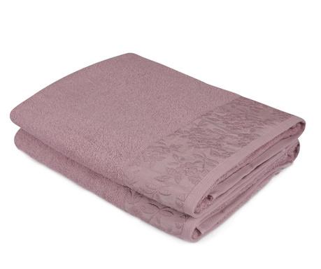 Sada 2 ručníků Pamela Purple 90x150 cm