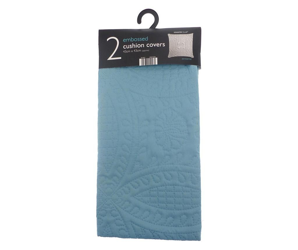 Set 2 fete de perna Parisienne Azure 43x43 cm