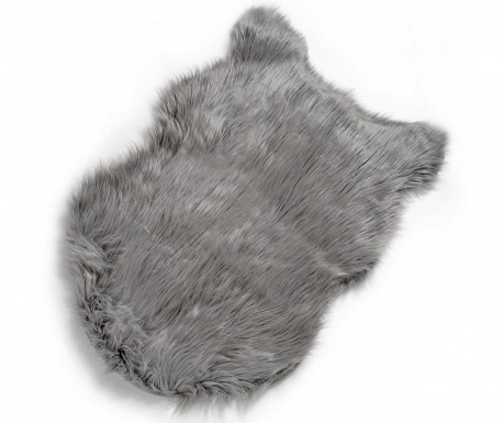 Χαλί Dark Grey Fur 60x90 cm