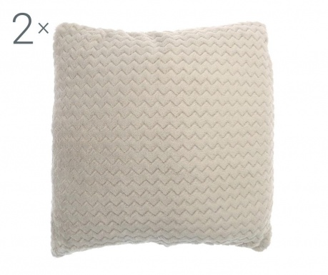 Set 2 jastučnice Chevron Cream 43x43 cm