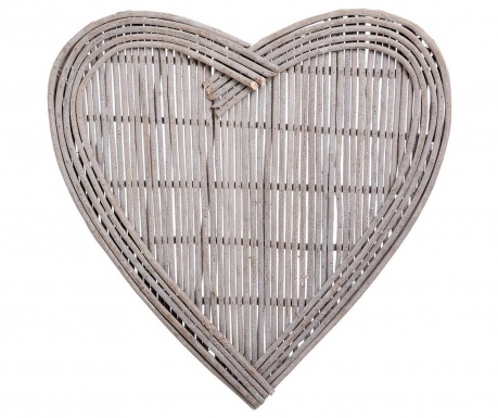 Stenska dekoracija Heart Wicker