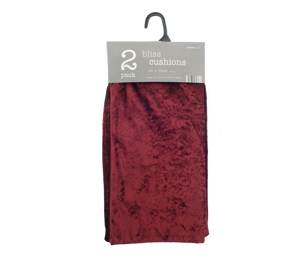 Set 2 fete de perna Bliss Red 43x43 cm