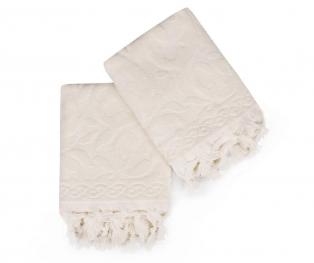 Set 2 kupaonska ručnika Baglamali Firuze Ecru