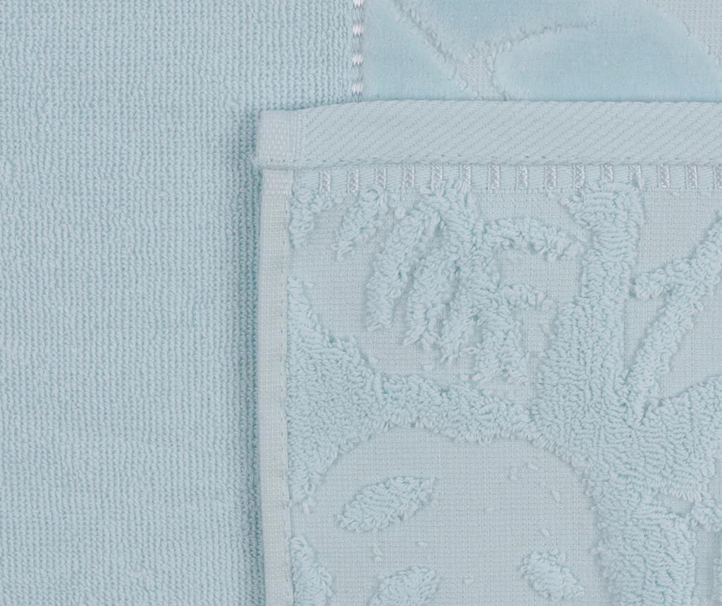 Kismi Kadife Yaprak Light Blue 2 db Fürdőszobai törölköző 50x90 cm