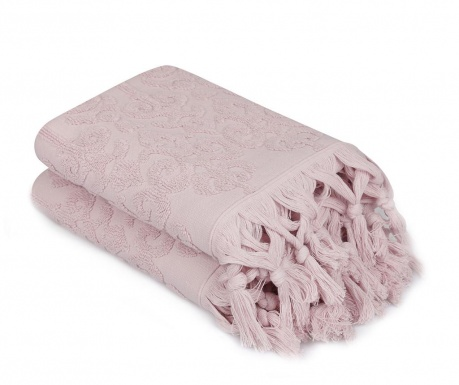 Комплект 2 кърпи за баня Baglamali Kilim Powder 50x90 см