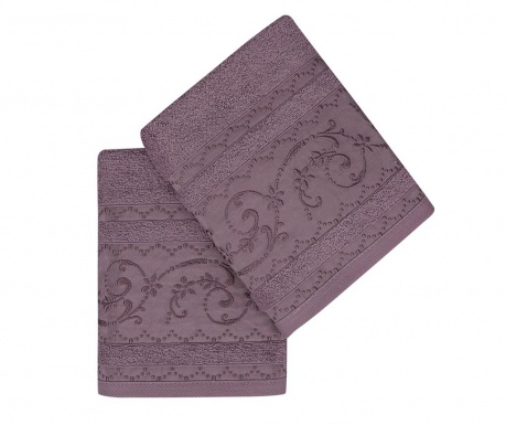 Set 2 kupaonska ručnika Lucca Purple 50x90 cm