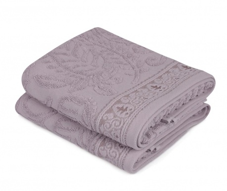 Комплект 2 кърпи за баня Noktali Sal Purple 50x90 см