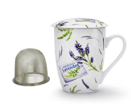 Lavender France Bögre fedővel és szűrővel 300 ml