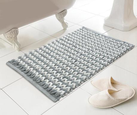 Kupaonski tepih Helena Silver 46x76 cm