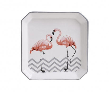 Talerz płaski Flamingo Square