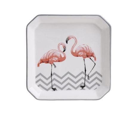 Plitki tanjur Flamingo Square