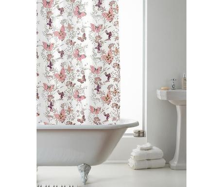 Zasłona prysznicowa Butterfly Pink 180x180 cm