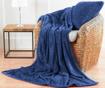 Chevron Fleece Blue Díszpárna 55x55 cm