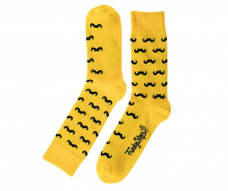 Skarpety męskie Moustache Yellow 41-45
