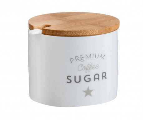 Set zaharnita cu capac si lingurita Premium
