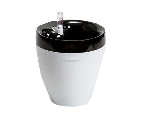 Posuda za cvijeće sa sustavom samozalijevanja Calimera White Black