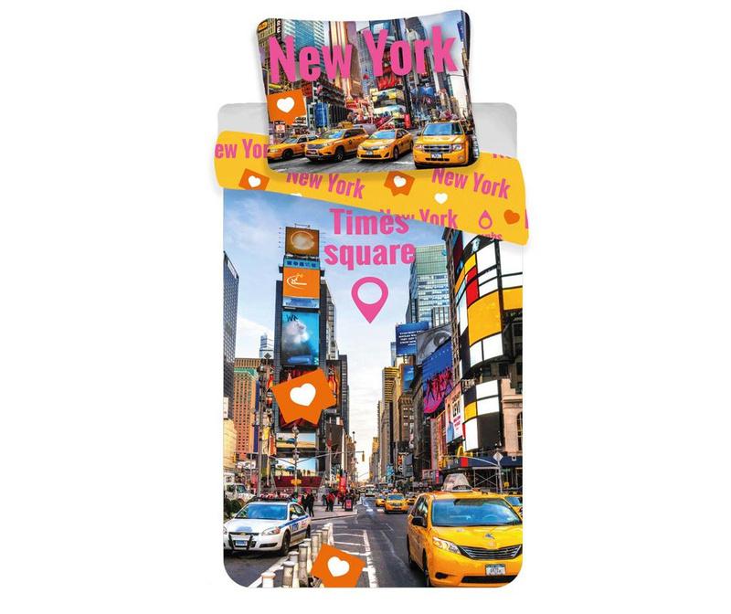 Ložní povlečení Single Ranforce Times Square