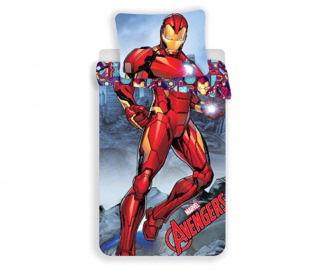 Posteljnina Single Ranforce Iron Man
