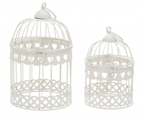 Set 2 colivii decorative Cage White