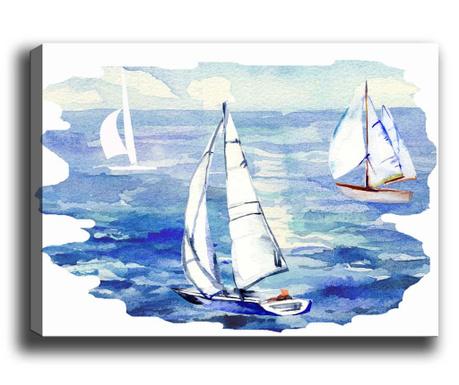 Tablou Boats 50x70 cm