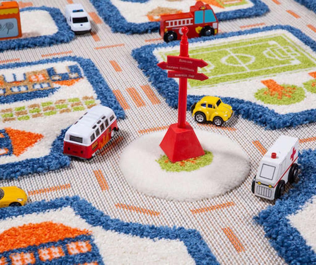 Koberec na hraní Traffic Mini 3D Blue 80x150 cm