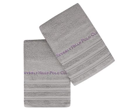 Set 2 kupaonskih ručnika Zincir Grey 50x90 cm