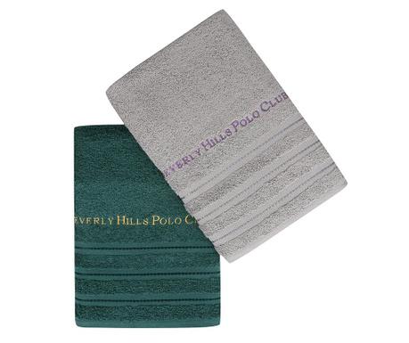 Set 2 kupaonskih ručnika Zincir Grey Green 50x90 cm
