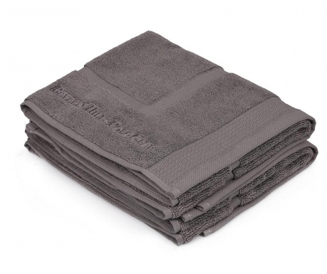 Set 2 ručnika za noge Jaxen Grey 50x86 cm
