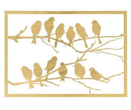 Ezio Birds Gold Fali dekoráció