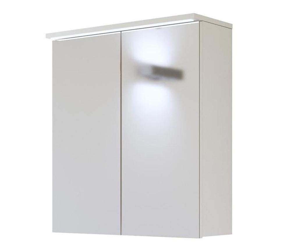 Viseča omarica z ogledalom Galaxy White
