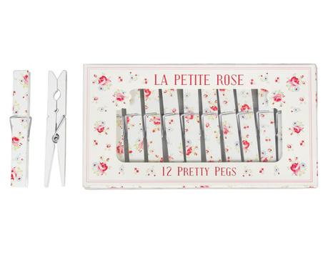 Set 12 clesti pentru rufe La Petite Rose