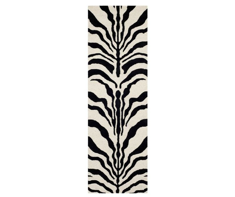Koberec Nahla Ivory Black 62x240 cm