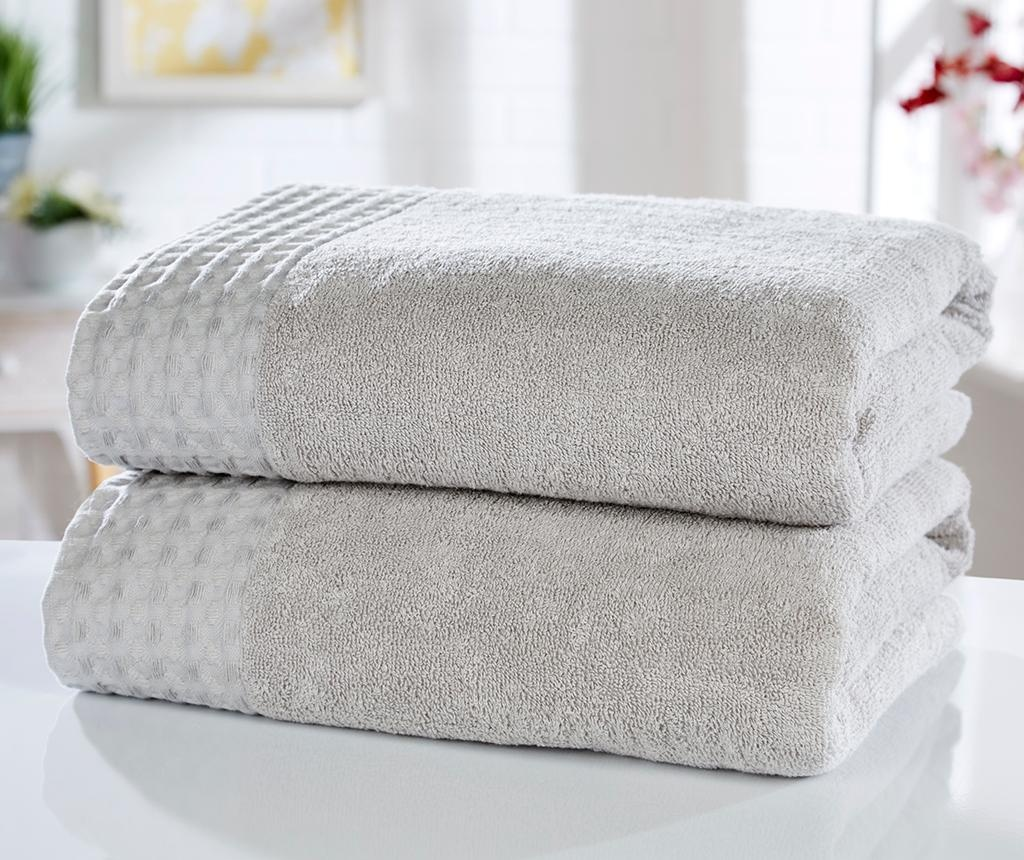 Set 2 kupaonska ručnika Retreat Silver 90x140 cm
