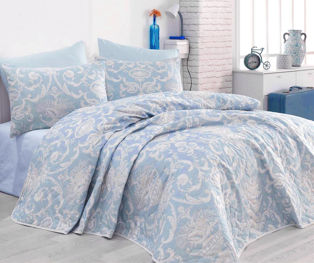 Set s prešitim posteljnim pregrinjalom Single Tuval