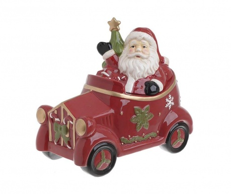 Vas decorativ cu capac Santa Car
