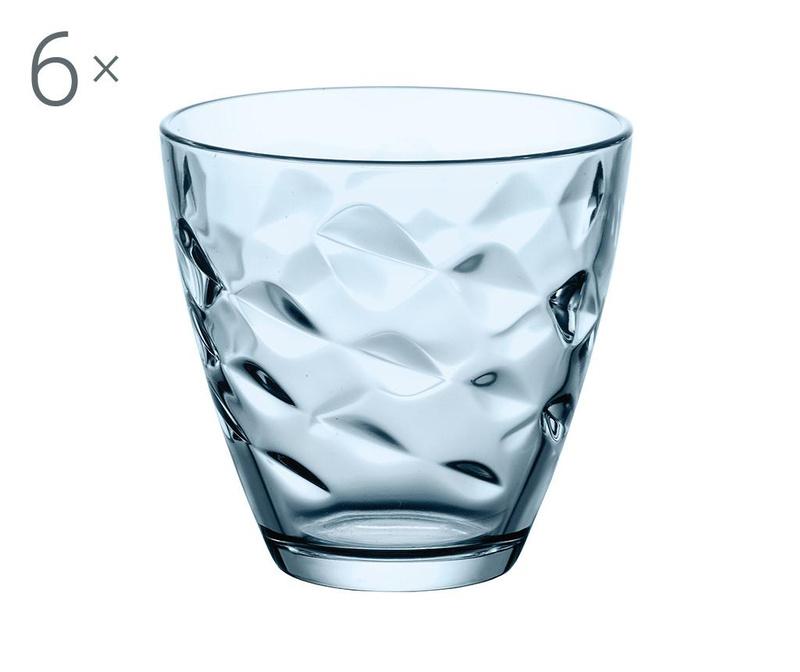Set 6 čaša Flora Azure 250 ml